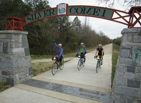 Bicyclists on the Silver Comet Trail